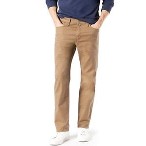 Dockers Khaki Straight Fit Jeans, Tan, 36 x 30